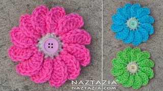 DIY Tutorial - Learn How to Crochet Flowing Flower - Flowers with Petals