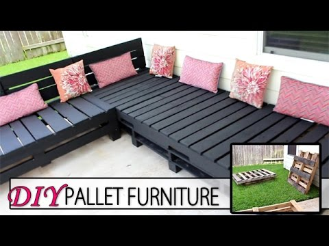 DIY Pallet Furniture - Patio Sectional