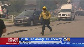 Peak Fire: Firefighters Quickly Contain Blaze Off 118 Freeway In Simi Valley