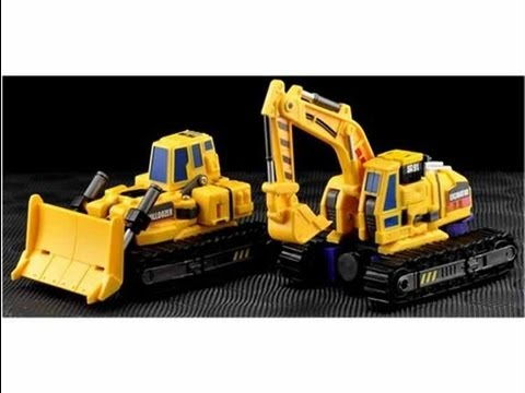 Make Toys Giant Set A: Bulldozer and Excavator