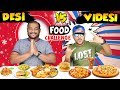DESI VS VIDESI FOOD EATING CHALLENGE | Pizza Eating Competiti...
