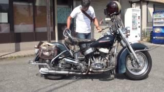 美人ライダーとツーリング 陸王750 陸王RQ750 陸王モーターサイクル Japan Harley Davidson 日本ハーレーダビッドソン