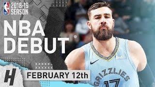 Jonas Valanciunas Full GRIZZLIES DEBUT Highlights vs Spurs 2019.02.12 - 23 Pts, 10 Reb