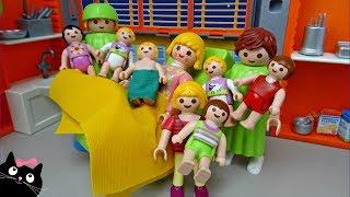 LA FAMILIA PLAYMOBIL - La Mamá va a tener un bebé - Juguetes Playmobil Cat Juguetes