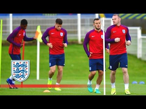Rooney, Wilshere, Barkley, Rashford - England light fitness session (Euro 2016) | Inside Training