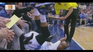 Randy Foye kicks beer, creates courtside spll: San Antonio Spurs at Denver Nuggets