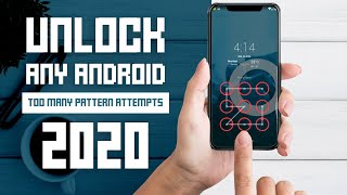 How to Unlock Any Android Phone (Locked by Too Many Pattern Attempts)