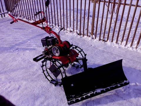 Мотоблок для уборки снега своими руками