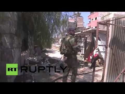 Syria: Yarmouk refugee camp lies in ruins as 'IS' advances
