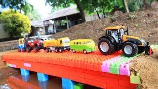 Build Bridge Blocks Toys for Children | Construction vehicles for kids