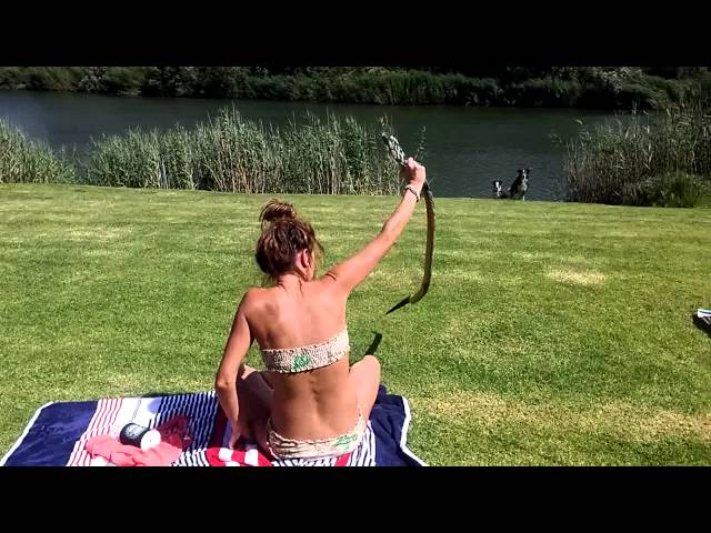 South African girl catch a cobra!