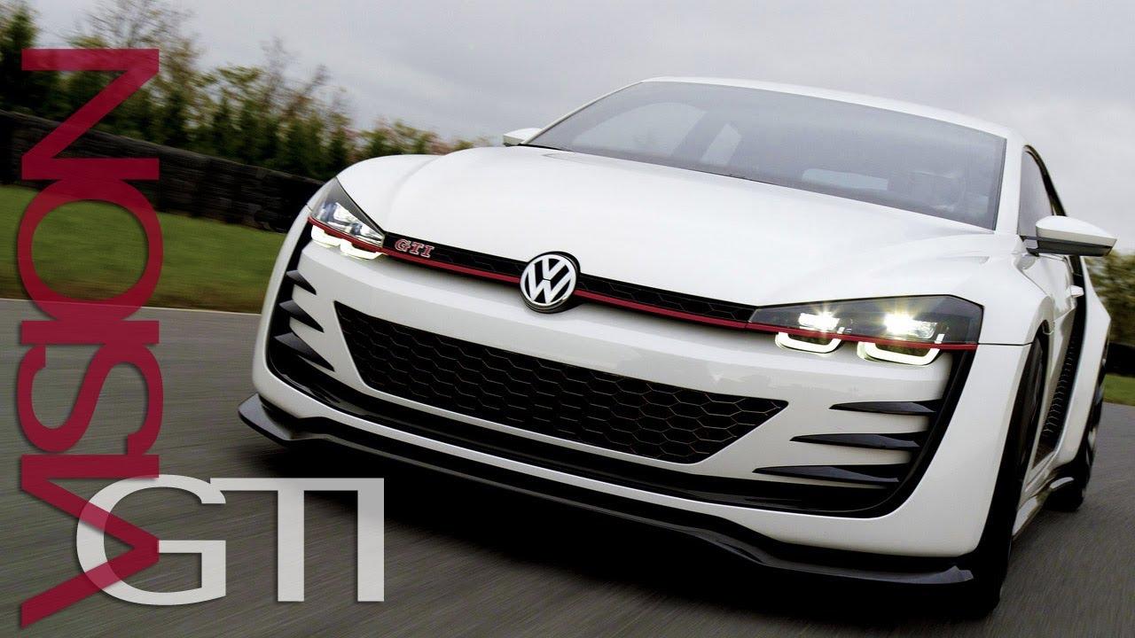 VW Golf Design Vision GTI Concept: AMAZING Sound TEST ...
