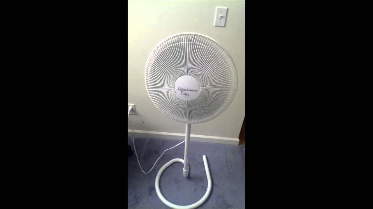 "16"" Holmes HASF-1516 Oscillating Stand Fan - YouTube"