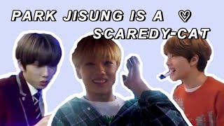park jisung getting scared compilation