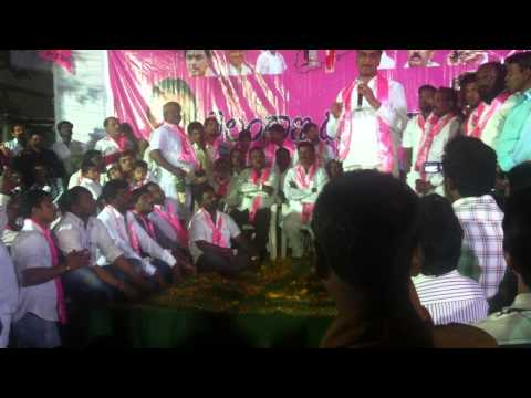 TRS MLA Harish Rao speech in Gudi malkapur chowrasta Karwan Hyderabad Part 1/3