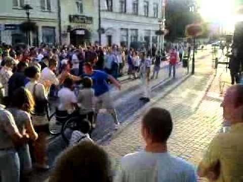 żużel: Ostrów - Lublin Doping Na Deptaku W Lublinie