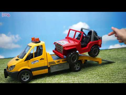 BRUDER Эвакуатор с джипом Wrecker Mercedes-Benz Игрушечные машинки Обзор игрушек. Bruder Toys. 2535