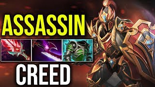 [Dragon Knight] ASSASSIN'S CREED BUILD (Silver Edge) By Meracle 7.18 Gameplay | Dota 2 Highlights