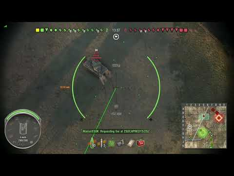 World of Tanks Xbox one M44 1 Kill ( 2 mins in)