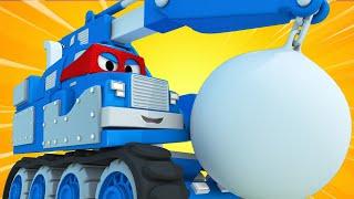 Xe cần cẩu phá dỡ - Siêu xe tải Carl 🚚⍟ những bộ phim hoạt hình về xe tải l Super Truck
