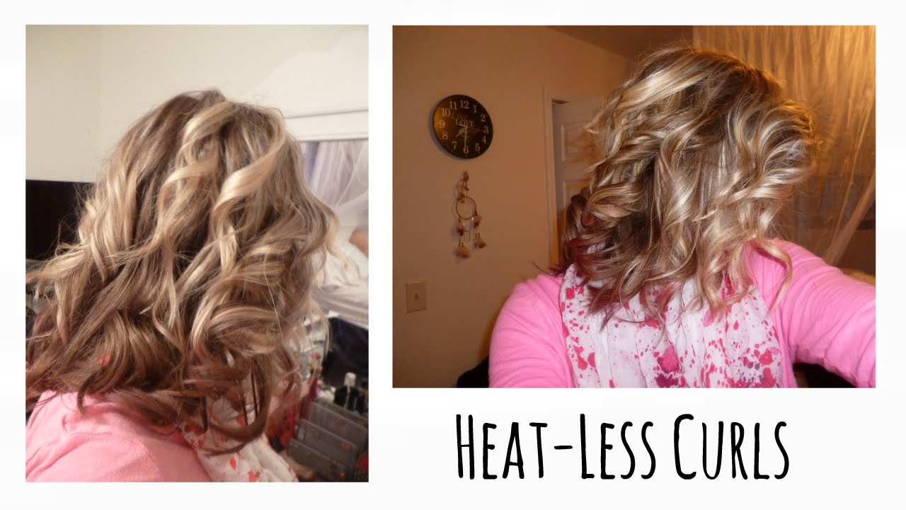 Heat Less Curls Overnight Head Band Curls Short Hair