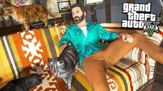 КУПИЛ КОТА В МАГАЗИНЕ ЖИВОТНЫХ РЕАЛЬНАЯ ЖИЗНЬ ГТА 5 МОДЫ #26! ОБЗОР МОДА GTA 5 веселая игра мультик