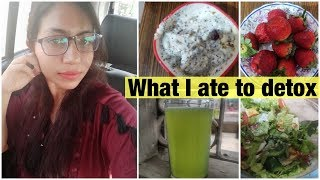 What i eat to lose weight | Detox Diet Plan For Weight Loss | Azra Khan Fitness
