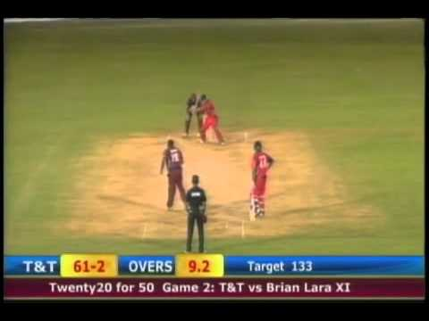 TnT vs Brian Lara 11 Twenty20 for 50 cricket festival