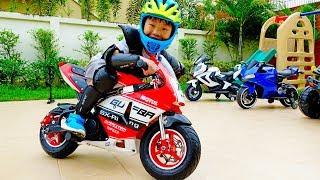 슈퍼 바이크 오토바이 예준이의 포켓 바이크 조립 전동 자동차 장난감 놀이 Kids Super Bike Unboxing Power Wheels Car Toy Video