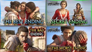 Assassin's Creed Odyssey ? HOW TO GET ALL ENDINGS (Secret, Best, Bad & Worst)