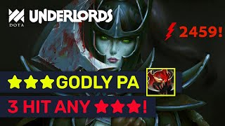 ★★★ PHANTOM ASSASSIN 1 Vs. 5! INSANE DMG Build! | Dota Underlords
