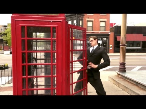 Superman: Man of Steel Real-Time Telephone Booth Change
