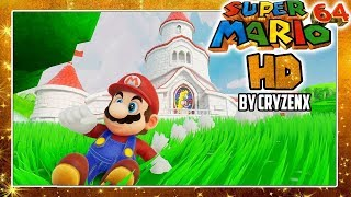 SUPER MARIO 64 OPENING HD DEMO in 4K in UNREAL ENGINE 4 by CryZENx