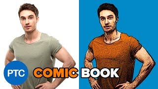 Retro COMIC BOOK Effect From a Photo - Cartoon DRAWING Photoshop Tutorial