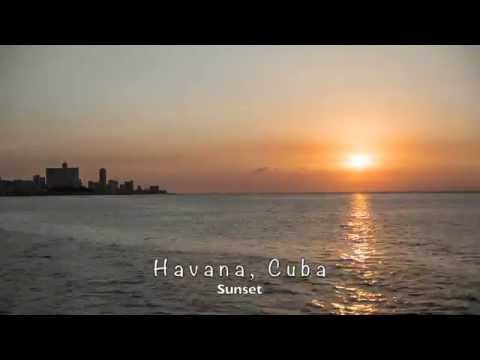Sunset in Havana, a timelapse