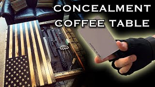 Concealed RFID Coffee Table! (Hidden compartment)