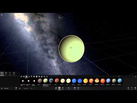 Universe Sandbox 2 - Creating a moon from Planet Impact.