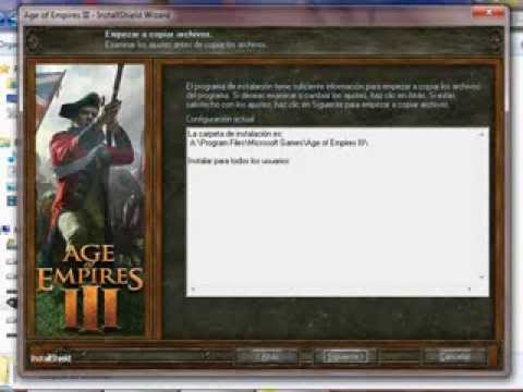 ¿Cómo instalar Age of Empires III + Descargar Crack + Descargar Serial + Descargar Update?