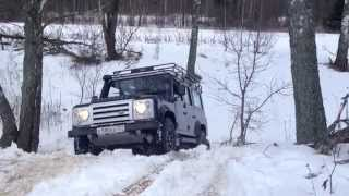 Land Rover Defender and UAZ Patriot/Патриот 2015
