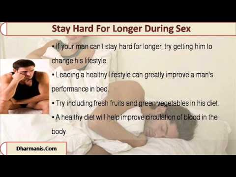 how to stay hard during sex