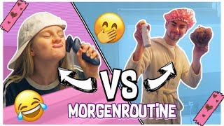 Morgenroutine Boys VS Girls Rollentausch | MaVie Noelle