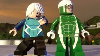 Speed Vs. Quicksilver - Co-op Race to Top of the Kronos Building - LEGO Marvel