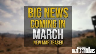 BIG PUBG NEWS Coming In March - New Map Teased - PUBG Update #6