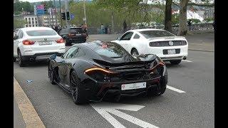 McLaren P1 cruising around Zurich. (Brutal acceleration!)