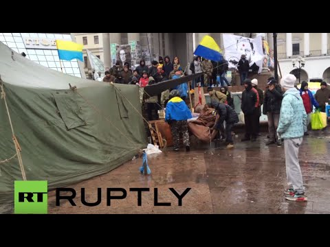 Ukraine: Tents removed from Maidan Square amid anti-govt protests