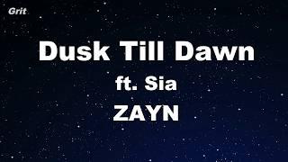 download lagu Dusk Till Dawn Ft. Sia - Zayn Karaoke 【with gratis