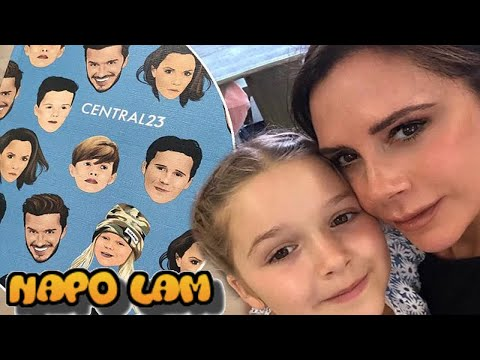 Harper Beckham's new notebook has got all the family's faces on it