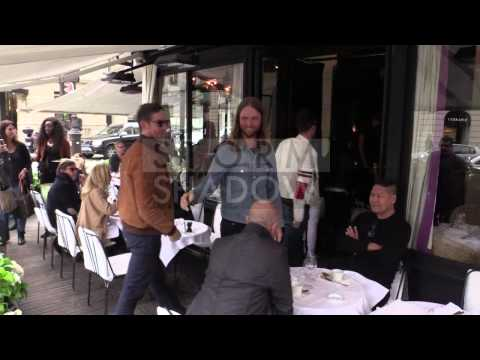 Adam Levine and Maroon 5 out and about in Paris
