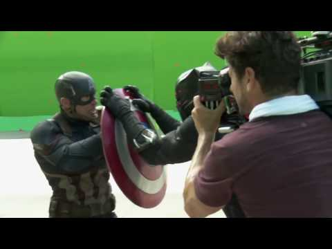 Captain America Civil War Behind the Scenes Movie Broll  Scarlett Johansson, Chris Evans