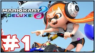 Mario Kart 8 Deluxe - Gameplay Walkthrough Part 1 - Mushroom Cup 50cc! (Nintendo Switch)